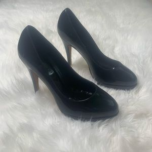 Jill Stuart Black Leather Pumps Heels